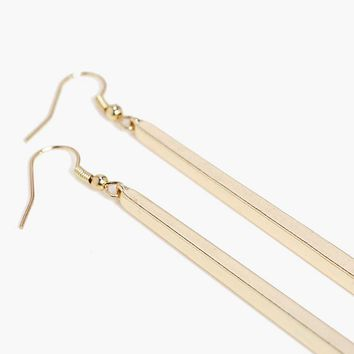 India Simple Bar Drop Earrings | Boohoo