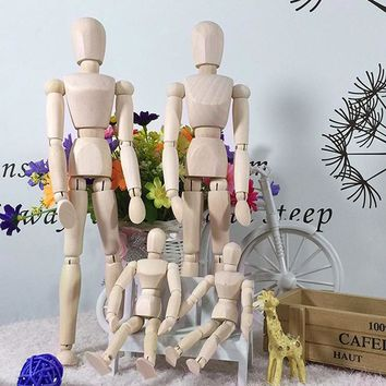Wooden Manikin Mannequin Moveable Limbs Human Figure Art Drawing Sculpting Model Class Sketching Jointed Human Puppet