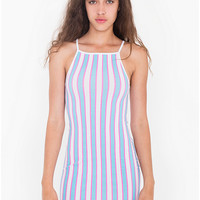 Printed Cotton Spandex Mini Length Dress | American Apparel