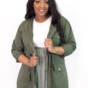 Cher Hooded Utility Jacket | Plus Size