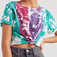 BDG Hang Tight Tie-Dye Knotted Tee | Urban Outfitters