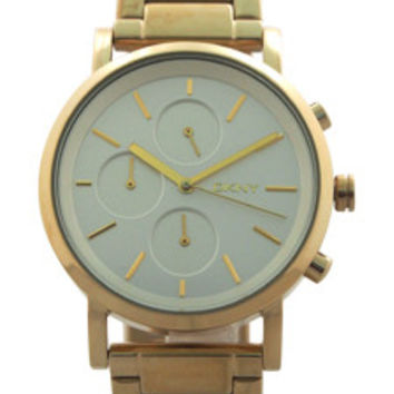 NY2274 Chronograph Soho Gold Ion Plated Stainless Steel Bracelet Watch by DKNY (Women)