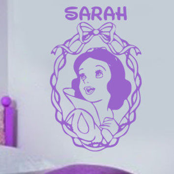 Snow White Disney princess personalize Vinyl Decal Wall Art Sticker room