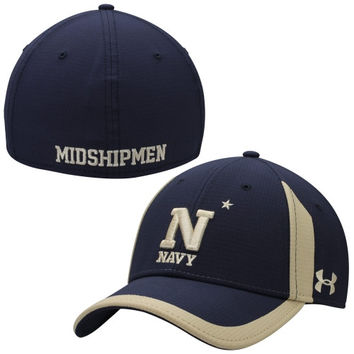Navy Midshipmen Under Armour 2014 Sideline Touchback Performance Flex Hat – Navy Blue