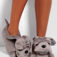 Frankie Grey Super Soft Bulldog Slippers | Pink Boutique