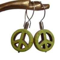 Peace Sign Earrings | RoxAndThings - Jewelry on ArtFire