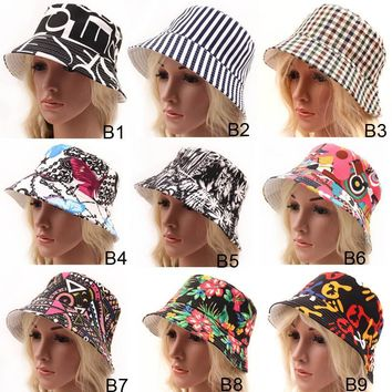New Fashion Bohemian Style High Quality Cloth Summer Sun Hat For Women Hat  High Quality UV Protection Bucket Hat