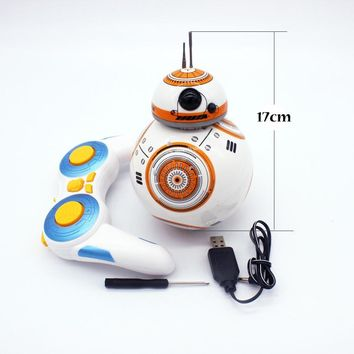 Star Wars Force Episode 1 2 3 4 5 17cm  7 RC BB-8 Robot  2.4G remote control BB8 robot intelligent small ball rc monster gift toys AT_72_6