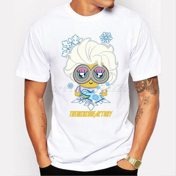Asian Size cartoon printed men t-shirt The Minion Factory design male tee short sleeve casual fashion hipster tops