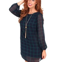 Winter's Love Plaid Shift Dress | Monday Dress Boutique