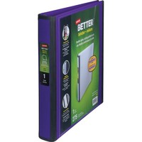 Staples Better 1-Inch D 3-Ring View Binder, Purple (19065) | Staples