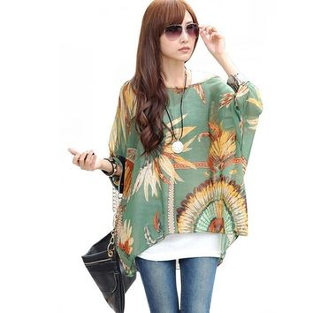 Boho Style Batwing Casual Blouses - 17 styles to pick - Plus Sizes Only