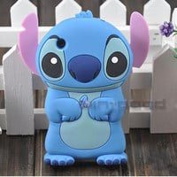 Lady 3D Cute Stitch Soft Silicone Back Case Cover Skin For Apple Iphone 3G 3GS