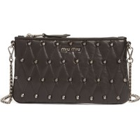 Miu Miu Quilted Nappa Leather Convertible Clutch | Nordstrom