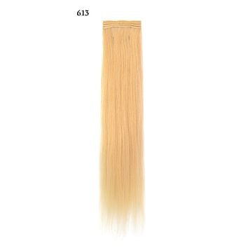 Weft Human Hair Extensions: Color #613 Platinum Blonde
