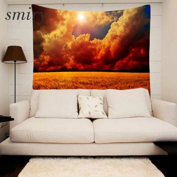 Smiry Mandala Style Tapestry Gorgeous sunset Wall Tapestry 150x130cm Wall Art frescoes Bedroom Home Decor Free Shipping