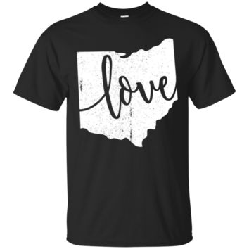 Ohio Love Home Vintage Map State Outline Graphic TShirt Hoodie Gif