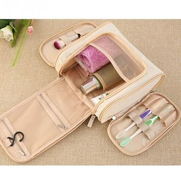 Traveling Makeups Toiletries Storage Bag Hanging Hook Type Cosmetics Bag High Quality Waterproof Toiletries Storage Bag