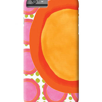 NEW-- iPhone 6 Case, iPhone 6 Plus Case,  iPhone 5 Case, Circle, Funky, Art on iPhone cases, by Ingrid, iPhone 5S case, iPhone 6 Plus Case