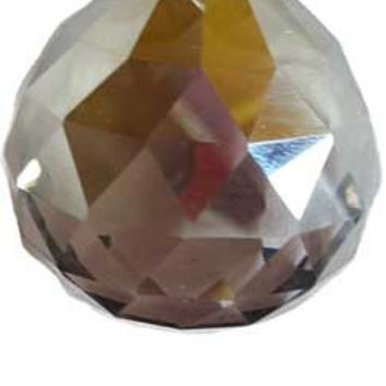 40 mm Satin faceted crystal ball