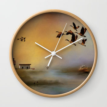 Homeward Bound Wall Clock by Theresa Campbell D'August Art