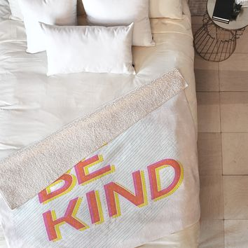 Gabi Be Kind Fleece Throw Blanket