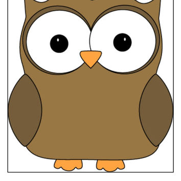 Instant Download, Owl Cross Stitch, PDF Pattern, Cross Stitch Pattern, Brown Owl, Owl Pattern