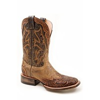 Stetson Women's Hand-Tooled Western Boots