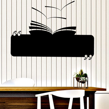 Wall Vinyl Decal Book Reading Room Library Decor Unique Gift z4644