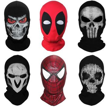 Superhero Balaclava Full Face Mask Spider Batman Black Panther Ghost Deadpool Punisher Deathstroke Watch Dog Clown Halloween
