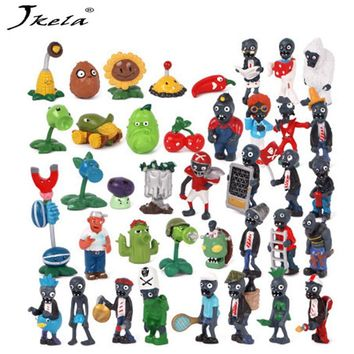 [hot] Plants vs Zombies Figures Toys PVZ Plants and Zombies PVC Action Figure Collection Model Toy Doll for Gifts 160pcs