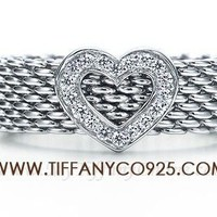 Shopping Cheap Tiffany Woven Classic Ring with Heart At Tiffanyco925.com - Discount Tiffany Rings