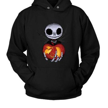 LMFP7V Jack O Lantern Halloween Hoodie Two Sided