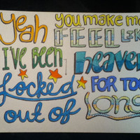 Locked Out of Heaven Lyric Drawing