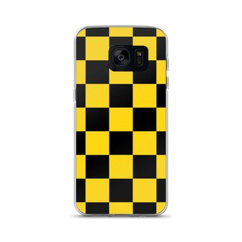 Black and Yellow Checkerboard Samsung Case