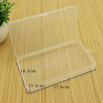 New PP rectangular transparent box plastic box jewelry parts element small box 17.6x10.1x2.4cm