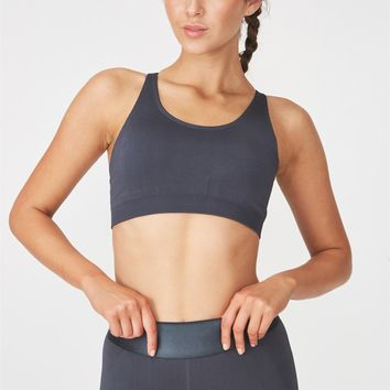 Seamfree Cross Back Sports Crop