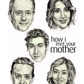 How I Met Your Mother Wall Art | Artist: Pushkar Priyadarshi