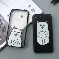Creative Ripndip Pocket Cat Iphone 8 8 Plus &  7 7plus & 6 6s Plus 5 5s Cover Case