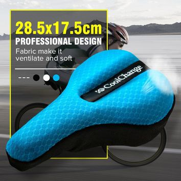MTB Cycling Bicycle Silicone Saddle Pad Bicycle Soft Seat Case Breathable Bike Cushion Seat Cover Pad Cycling Accessories Part