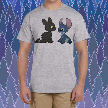 Stitch and Toothless design for tshirt