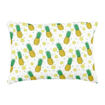 Pineapples pattern accent pillow