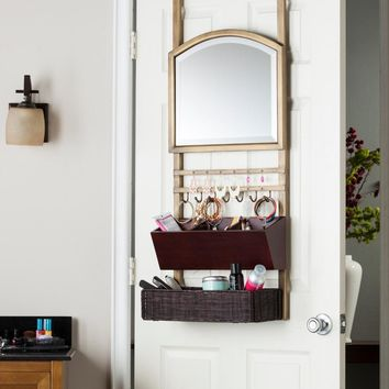 Cantera Over-the-Door Organizer Mirror