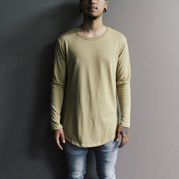 Lamar Longsleeve Zipper Shirt (Light Brown)