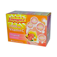 Alacer Emergenc Vitamin C Fizzy Drink Mix Tropical  1000 Mg  30