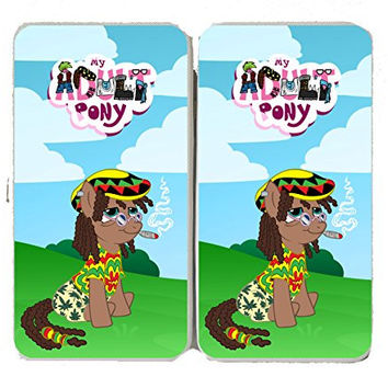 'Rasta Dooby' Funny Animal Cartoon Parody - Taiga Hinge Wallet Clutch