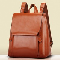 British Style Womens Faux Leather PU Backpack