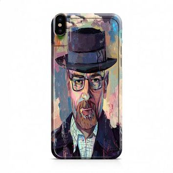 Breaking Bad Heisenberg Cool Poster Canvas iPhone X case