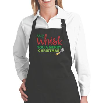 Chef Aprons For Women We Wish You A Merry Christmas Kitchen Apron