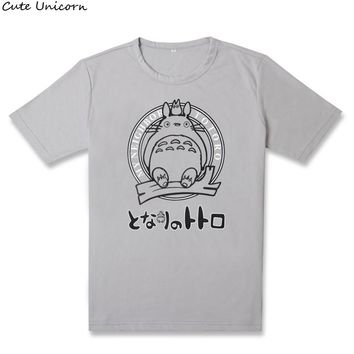 Cute Unicorn My Neighbor Totoro t shirt men women clothes cotton t-shirt anime cosplay costume summer tshirt Tops & Tees